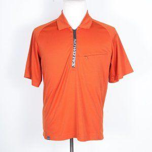Salomon Orange Zip Polo Shirt